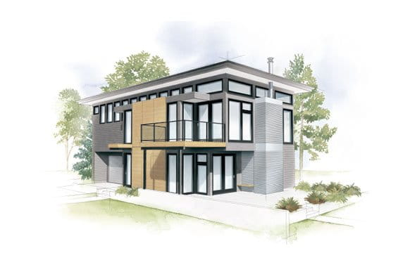 Craftsman Bungalow Home Style Illustration