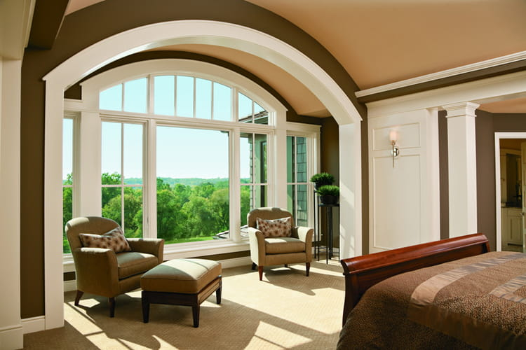 Home bedroom renovation 400 series casement and arch window - Houses with arched windows ...